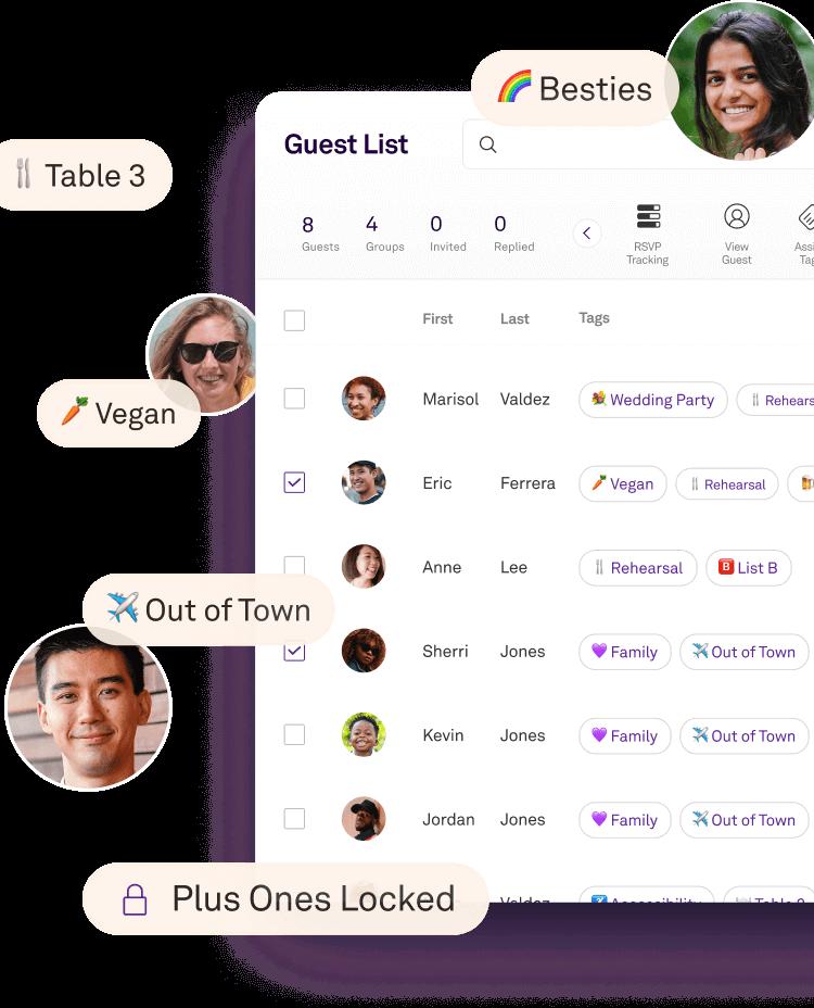 Joy Guest List Screen