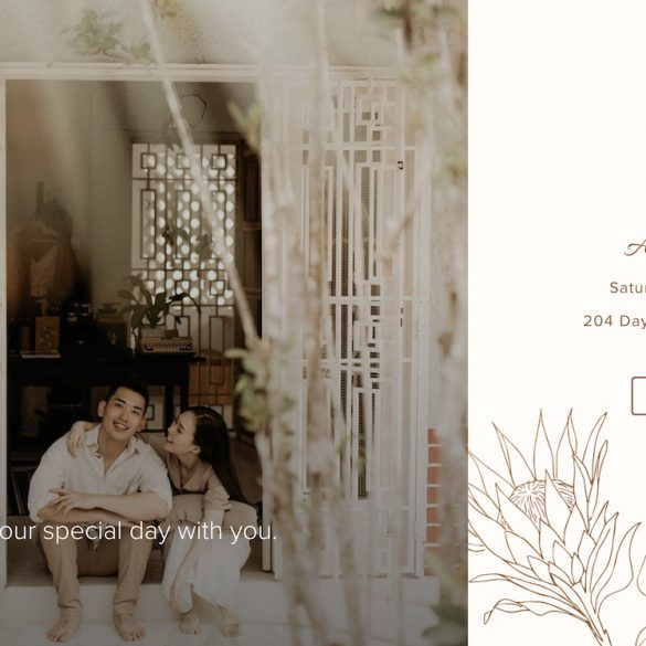creative wedding website examples 2020