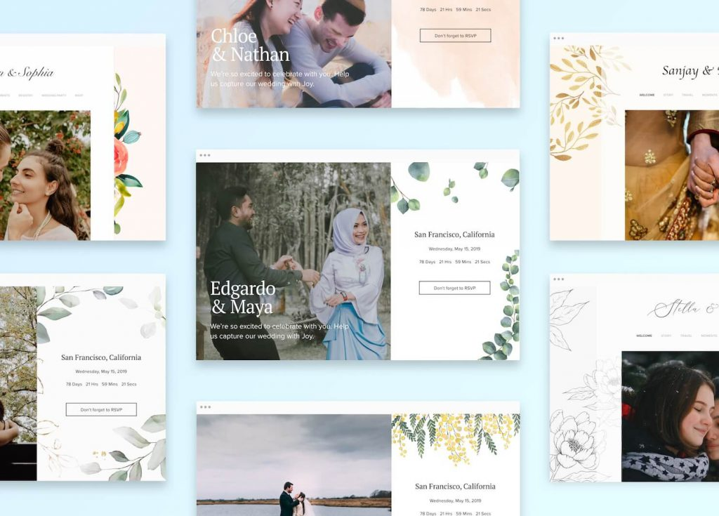 designs from Joy, the best wedding website builder