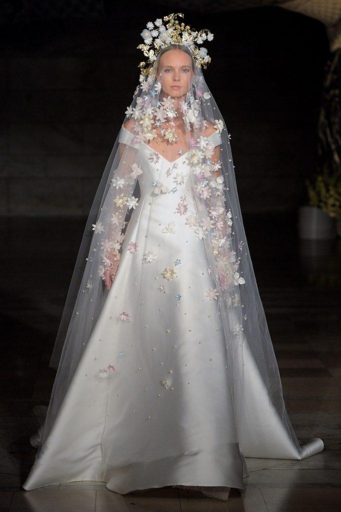 floral applique bridal fashion trend 2019