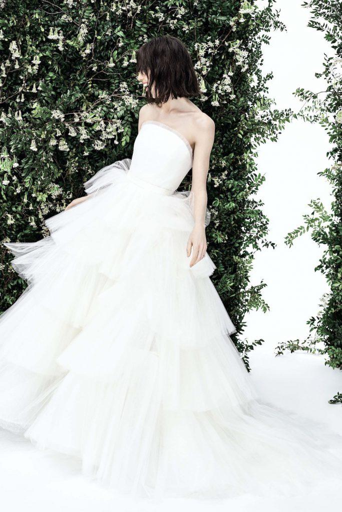 tiered wedding dress spring 2020 bridal fashion