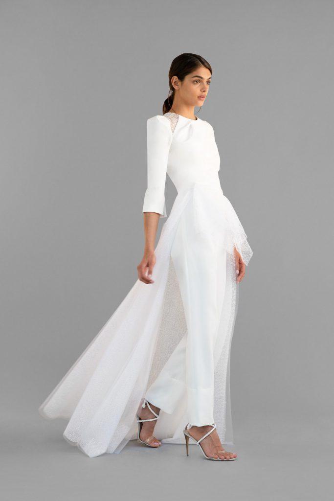 suit trains spring 2020 bridal fashion
