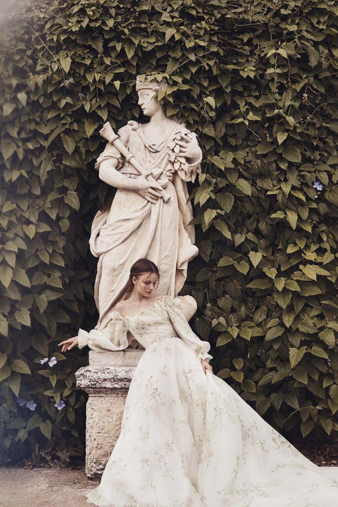 long sleeves, bare shoulders spring 2020 bridal fashion