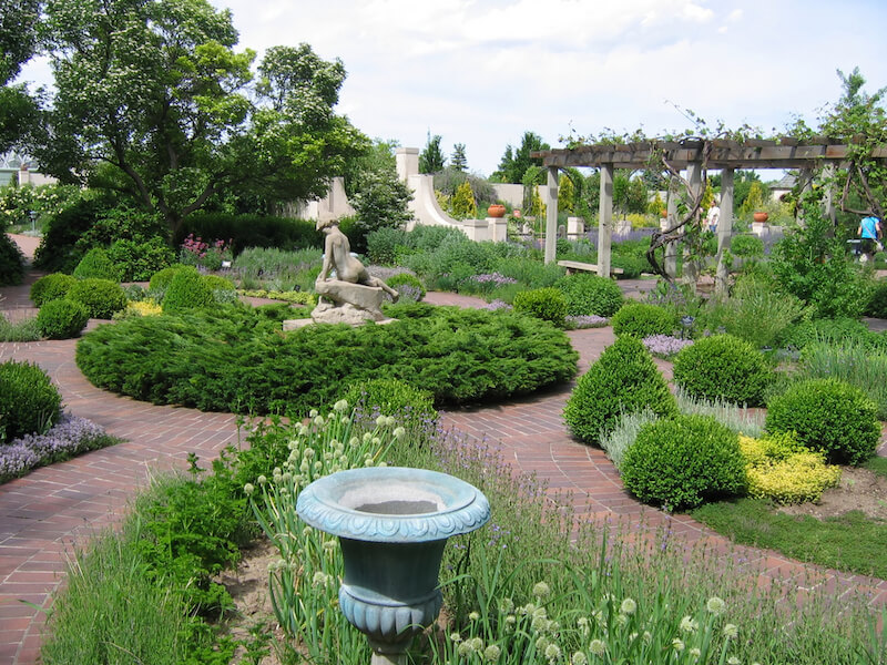 pathway and greenery at denver botanic gardens and a best place to propose in denver