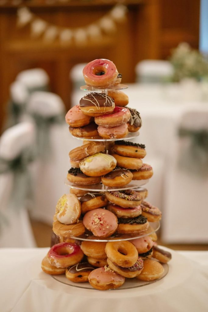 donuts wedding desert table idea