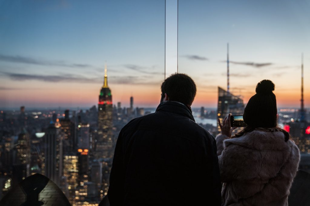 top of the rock engagement photo location nyc