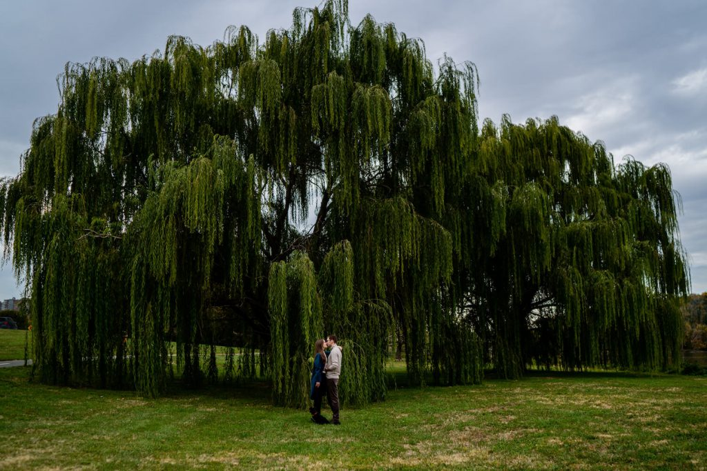 mount vernon trail engagement photo dc