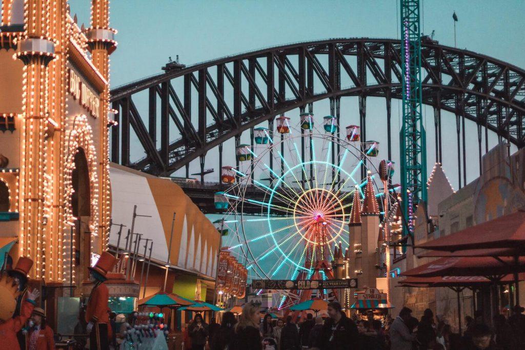 ferris wheel at luna park proposal ideas sydney