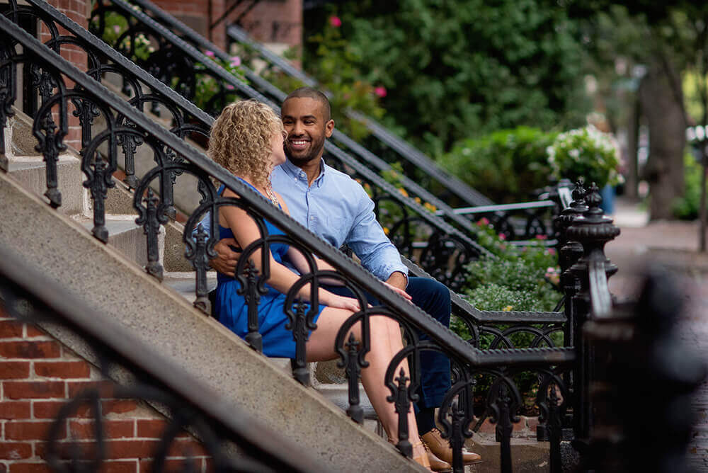 south end engagement photos boston