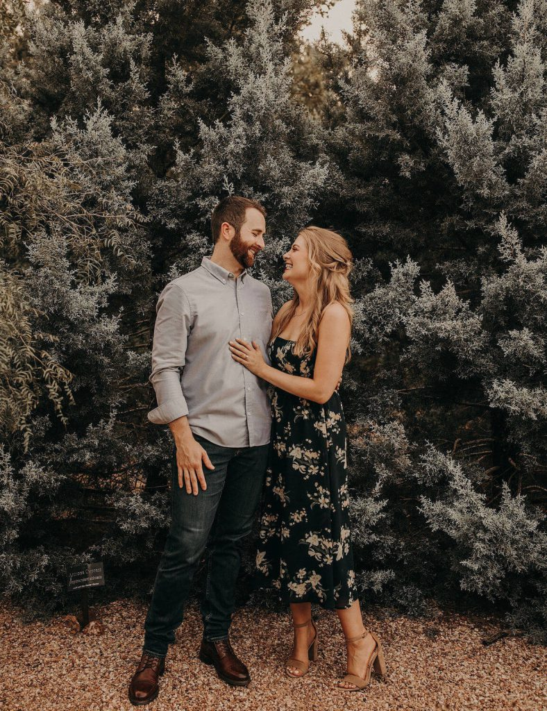 lady bird johnson wildflower center engagement photo austin