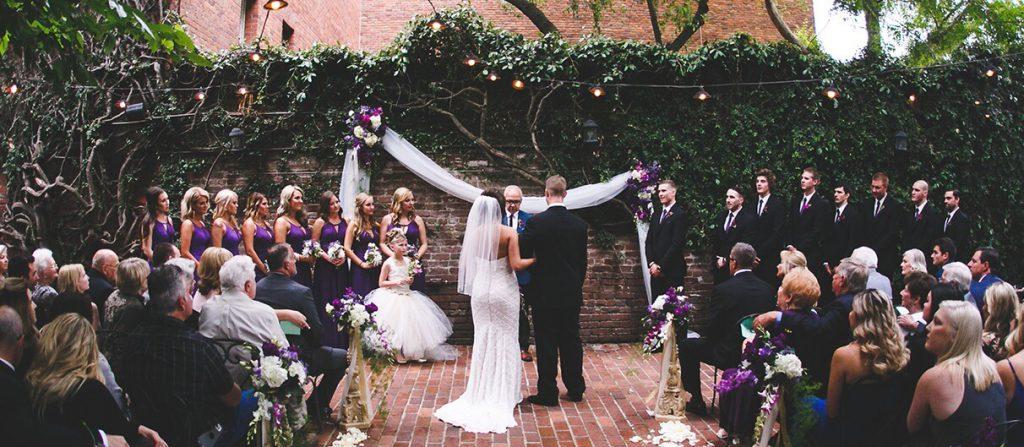 the firehouse outdoor wedding venue sacramento