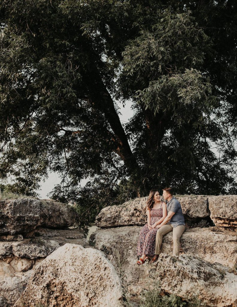 zilker park engagement photo austin