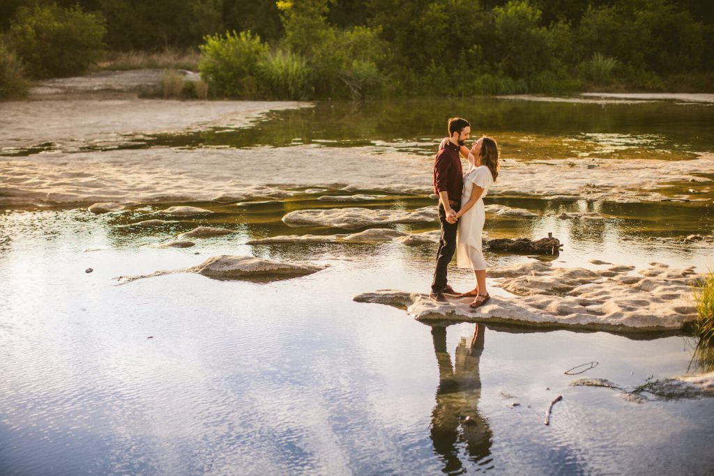 mckinney falls state park engagement photo austin