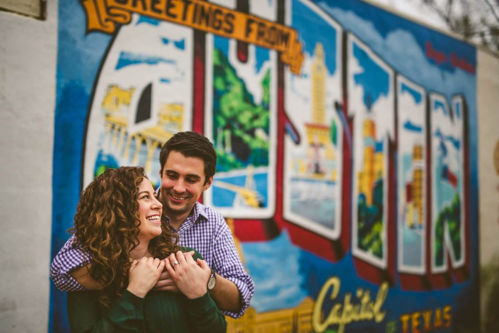 south first street engagement photo austin