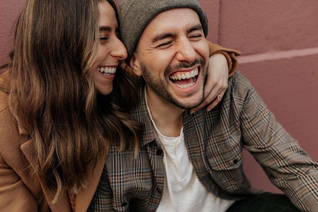 explore your favorite neighborhood summer engagement photo idea