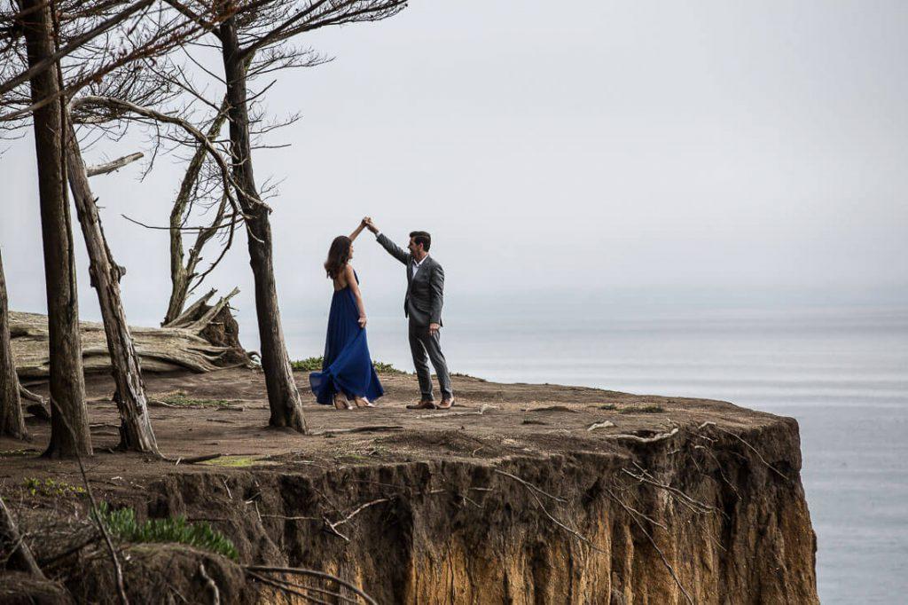 go formal summer engagement photo idea