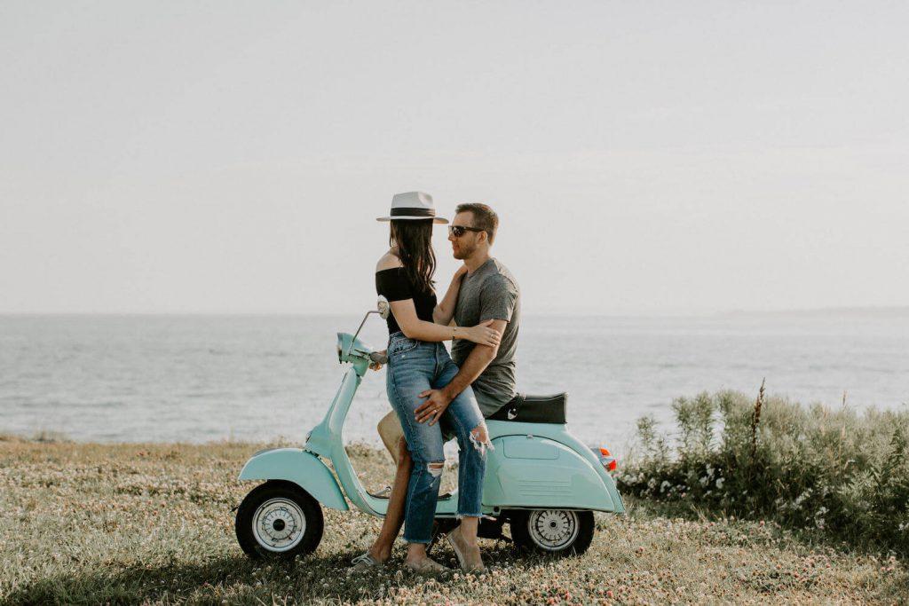 embrace props summer engagement photo idea