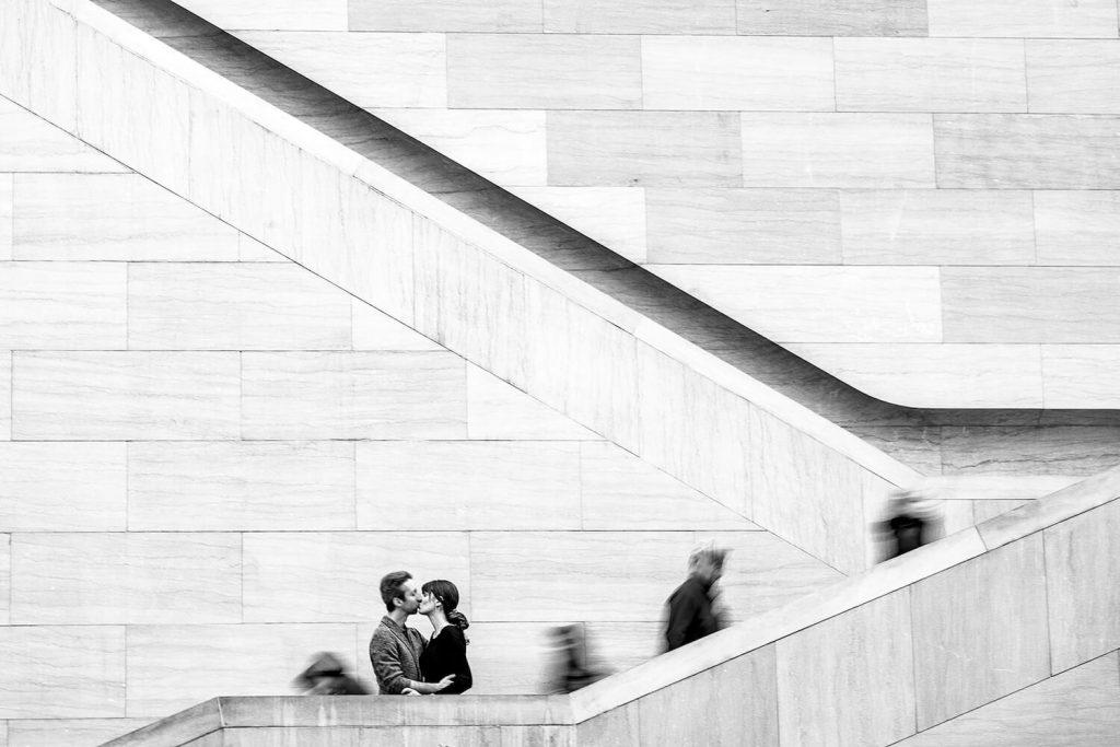 take advantage of crowds summer engagement photo idea