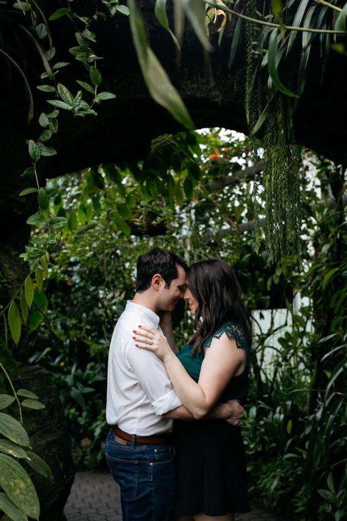 atlanta botanical garden engagement photo atlanta