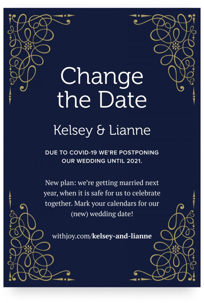 Image of a change the date design