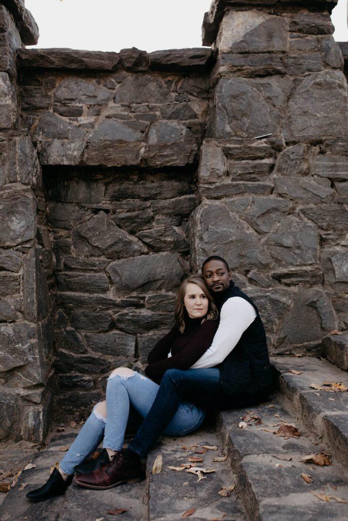 piedmont park engagement photo atlanta