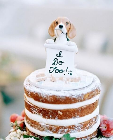 one-of-a-kind wedding cake topper unique wedding cake idea