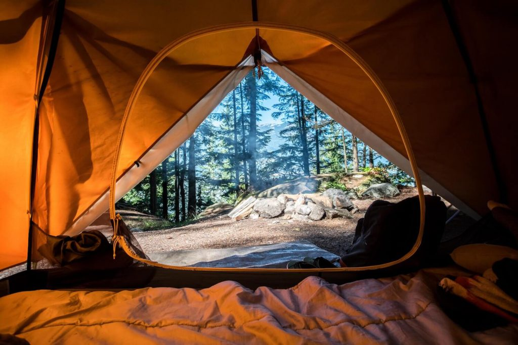 camping dinner rehearsal dinner idea