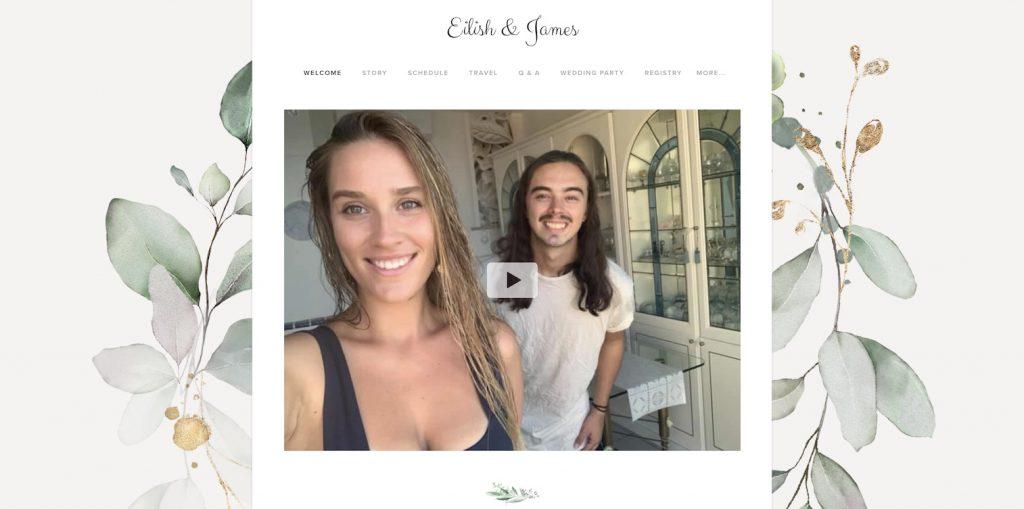 wedding website proposal video example