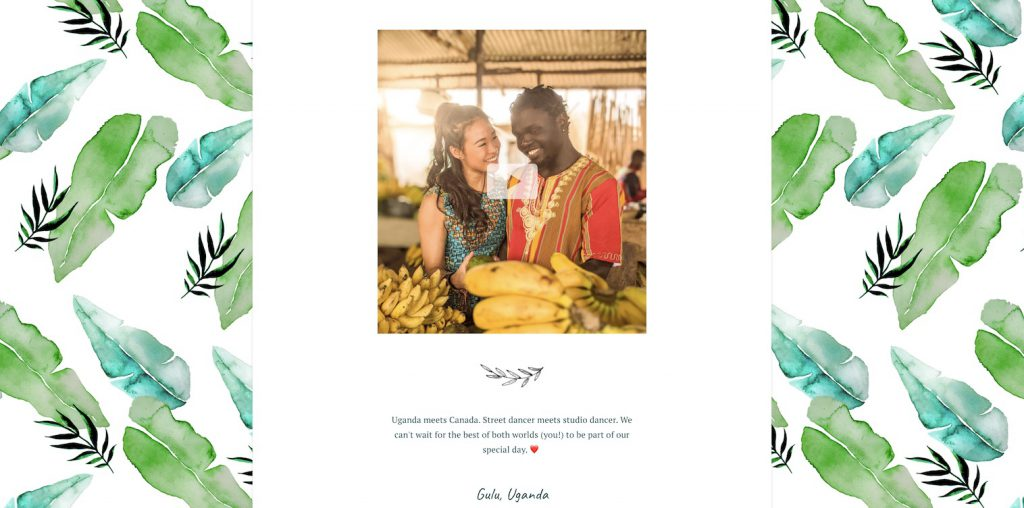 wedding website about us example