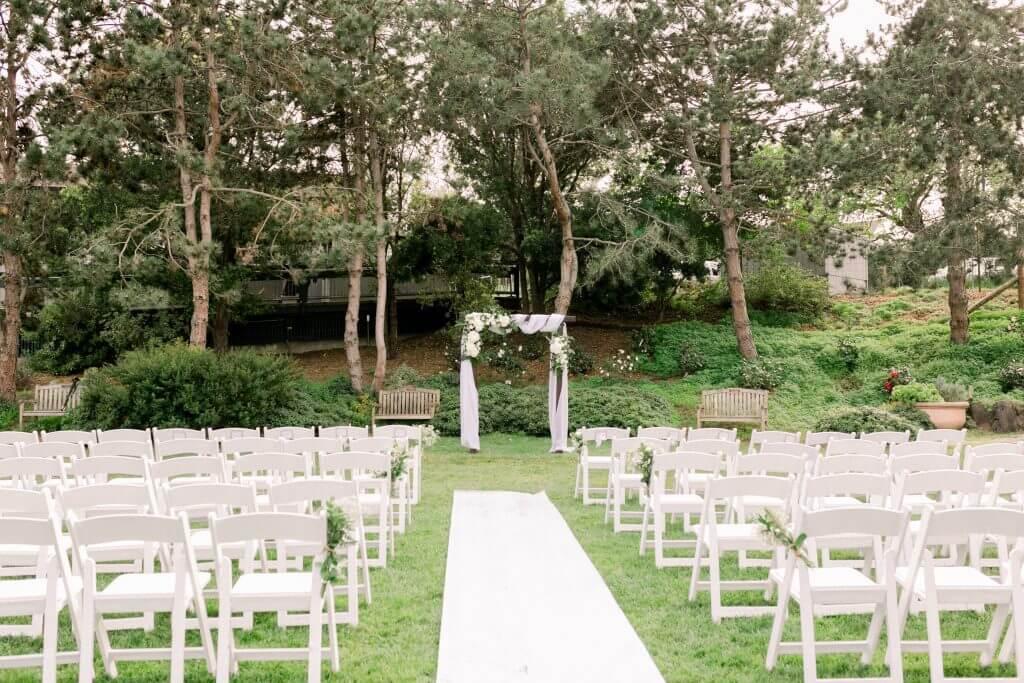 the gardens at heather farm affordable wedding venue bay area
