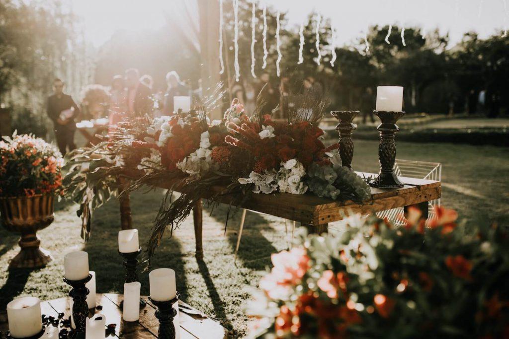 set up your backyard wedding