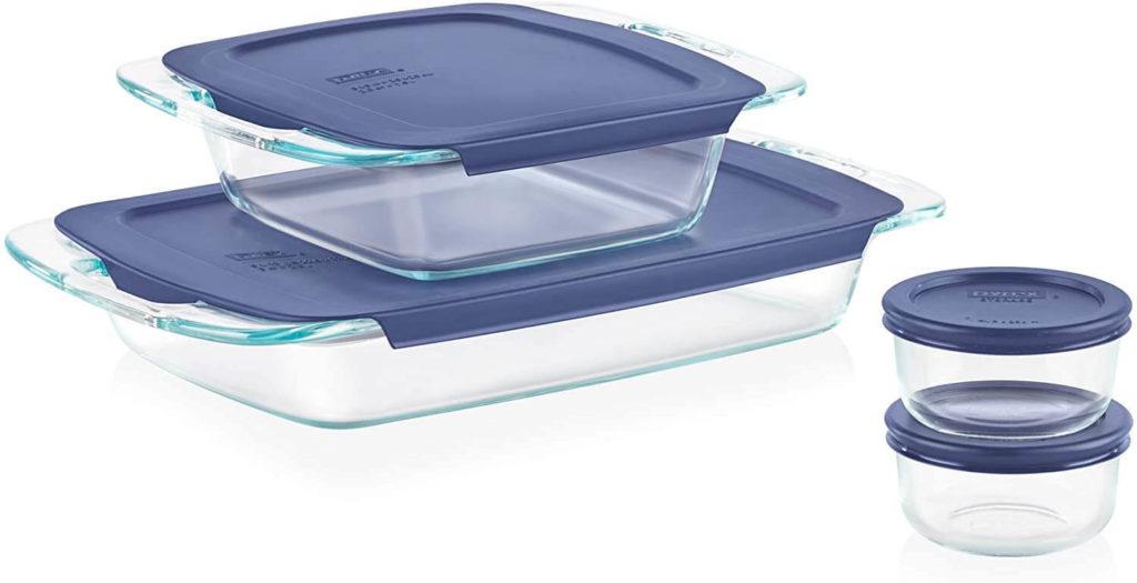 Pyrex 8 pc. Grab Glass Bakeware and Food Storage Set