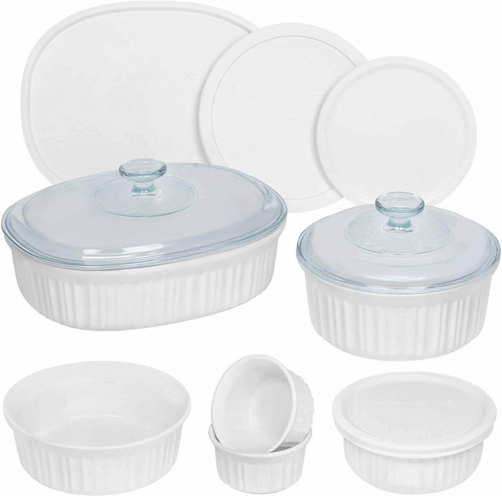 CorningWare 12 pc. French White Round and Oval Ceramic Bakeware set