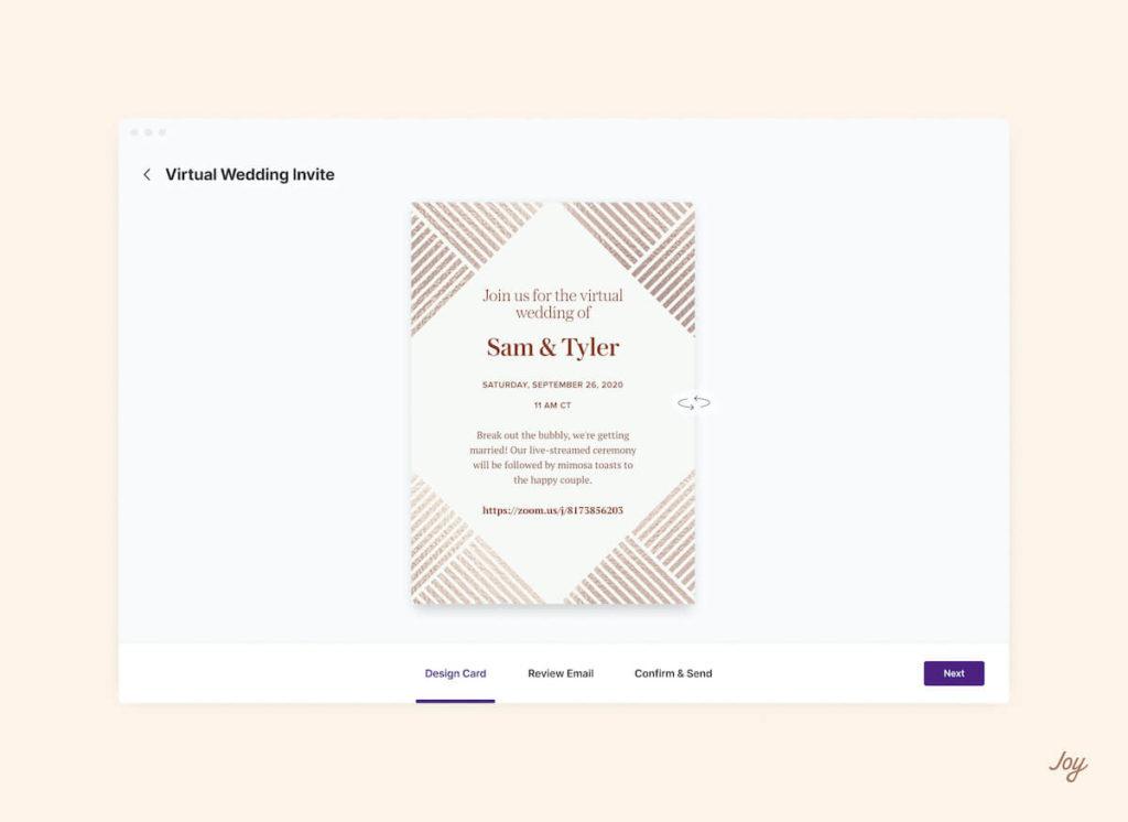 geometric virtual wedding invitation design