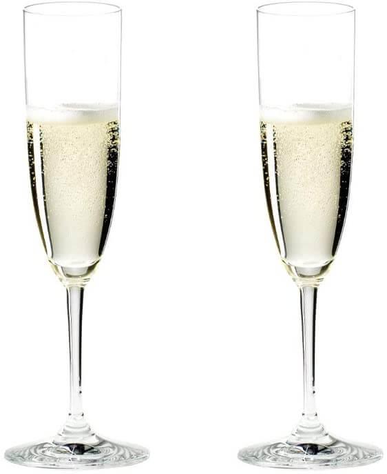 Riedel VINUM Champagne Glasses, Riedel Vinum Collection, Set of 2 best barware for wedding registry