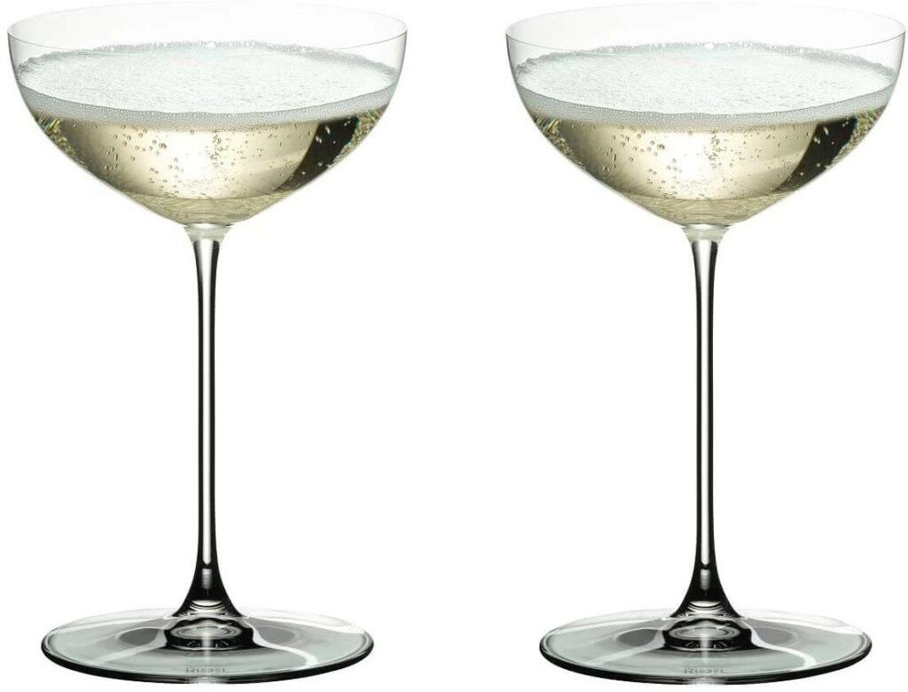 Riedel Veritas Coupe Glasses, Set of 2 best barware for wedding registry