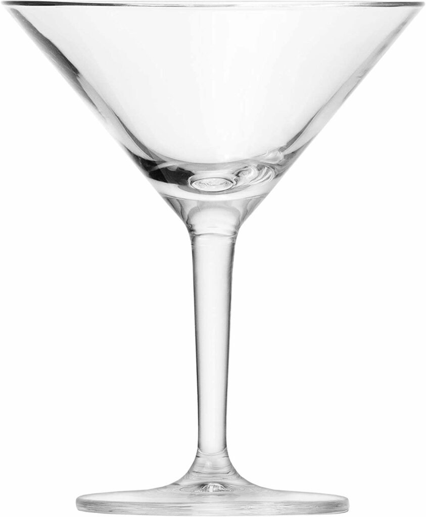 Schott Zwiesel Basic Bar Designed by World Renowned Mixologist Charles Schumann Tritan Crystal Glass, Traditional Martini Cocktail, Set of 6 best barware for wedding registry