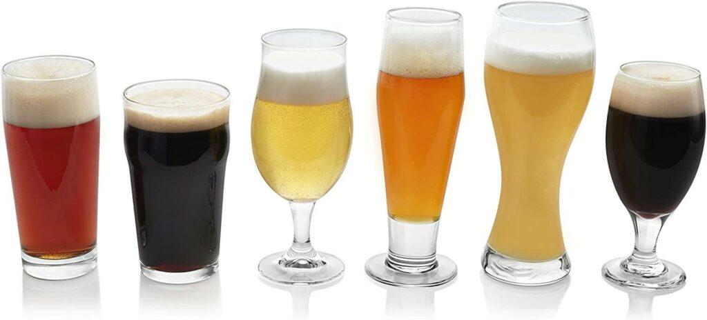 Libbey Craft Brews Assorted Beer Glasses, Set of 6 best barware for wedding registry