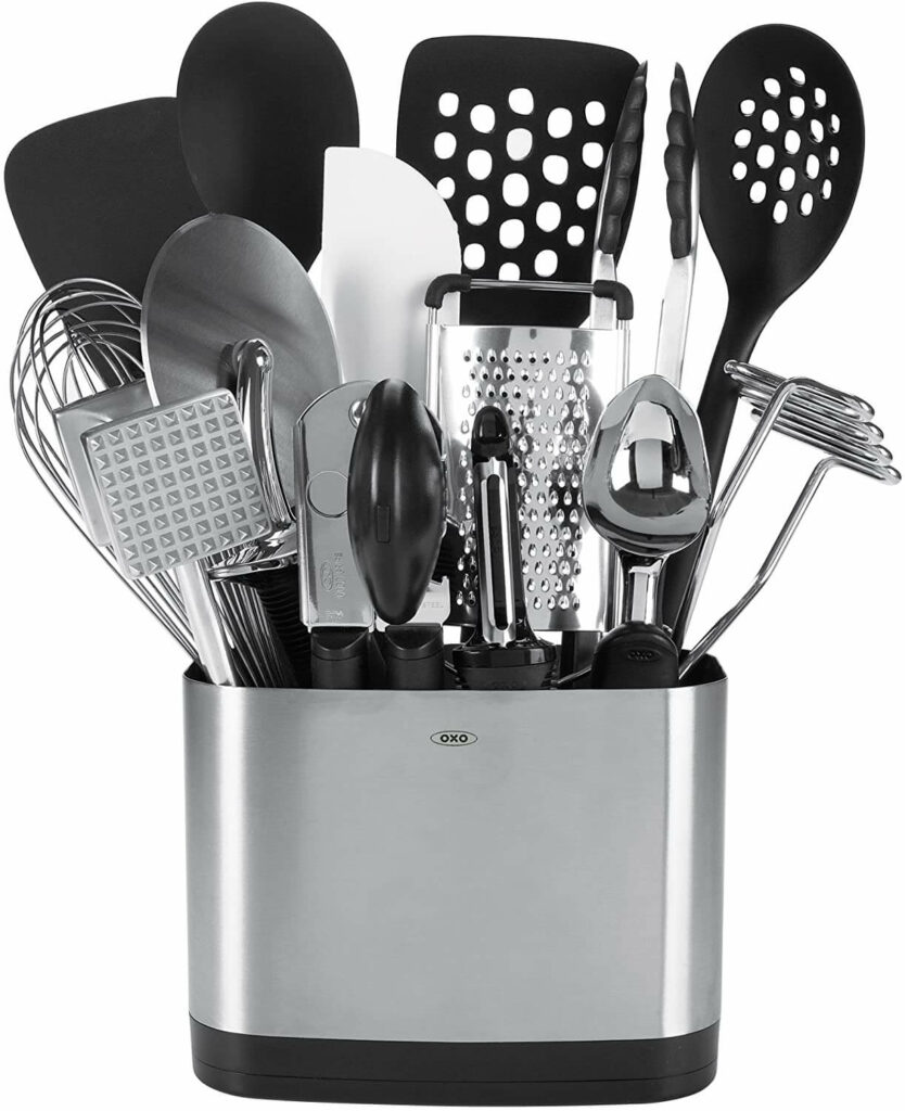 OXO Good Grips 15-Piece Everyday Kitchen Utensil Set best kitchen gadgets and tools for wedding registry