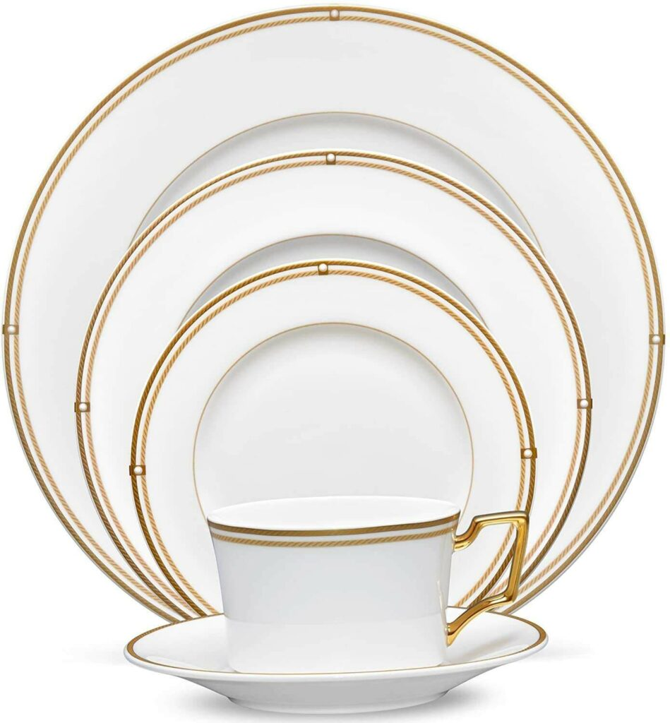 noritake aidan gold 5-piece place setting best dinnerware for wedding registry