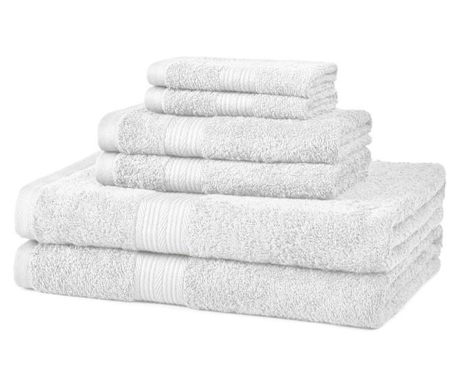 wedding registry ideas amazonbasics 6-piece fade-resistant bath towel set