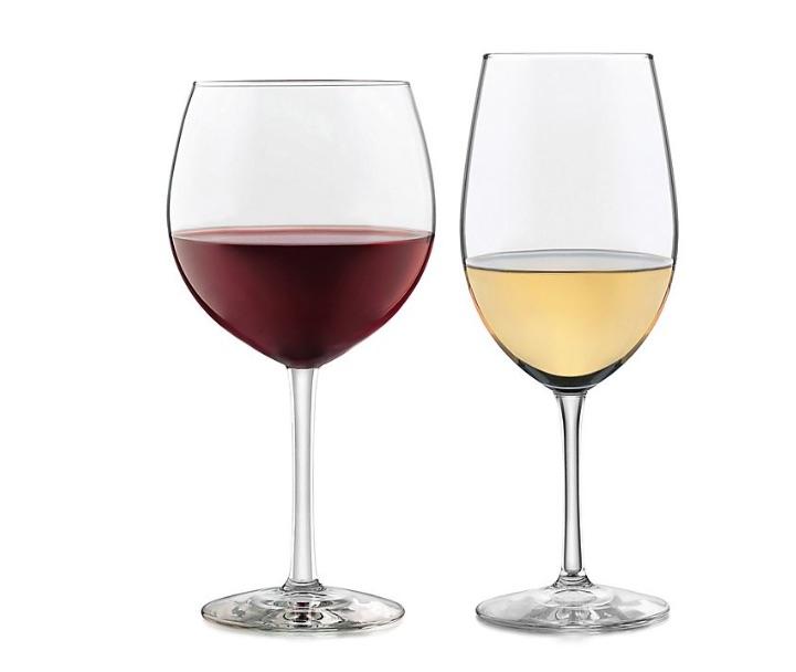 wedding registry ideas libbey glass vineyard reserve 12-piece wine glass set
