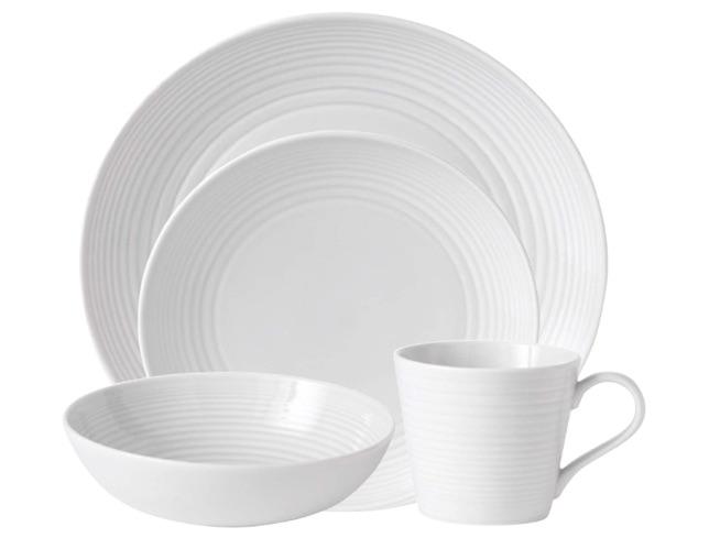 wedding registry ideas royal doulton gordon ramsay maze white 4-piece set