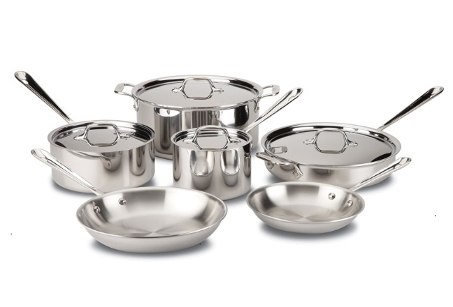 wedding registry ideas all-clad d3 stainless steel 10-piece cookware set