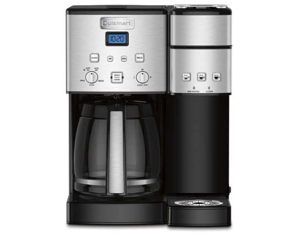 wedding registry ideas cuisinart stainless steel 12-cup and single serve coffee maker