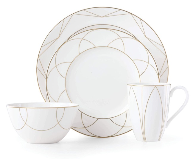 wedding registry ideas kate spade arch street 4-piece place setting