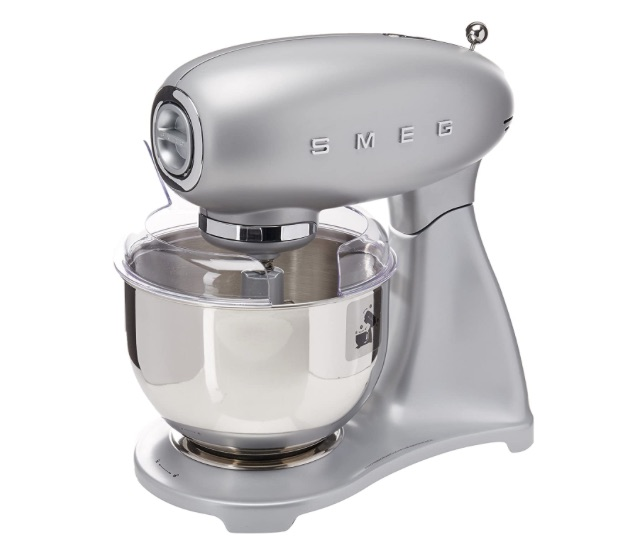 wedding registry ideas smeg 5-quart stand mixer in silver