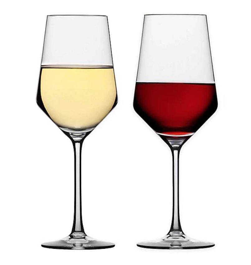 wedding registry ideas schott zwiesel tritan pure 8-piece wine glass set