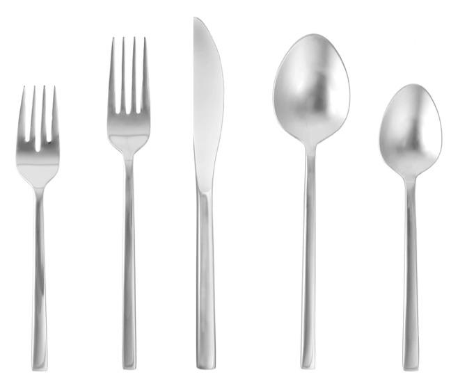 wedding registry ideas fortessa arezo stainless steel flatware 5-piece set