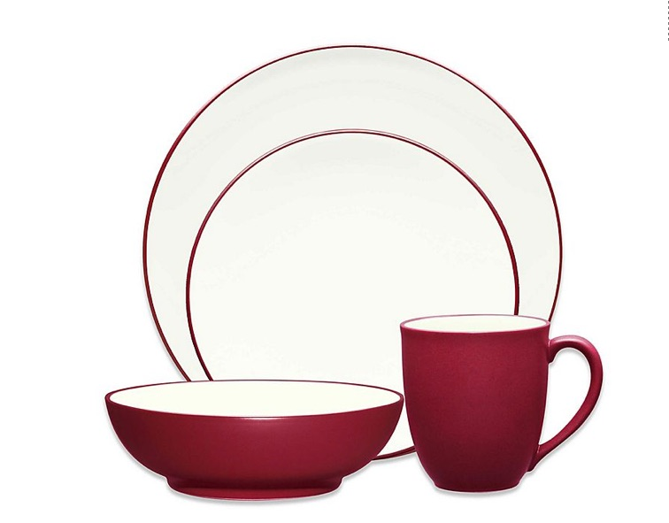 wedding registry ideas noritake colorwave coupe 4-piece place setting